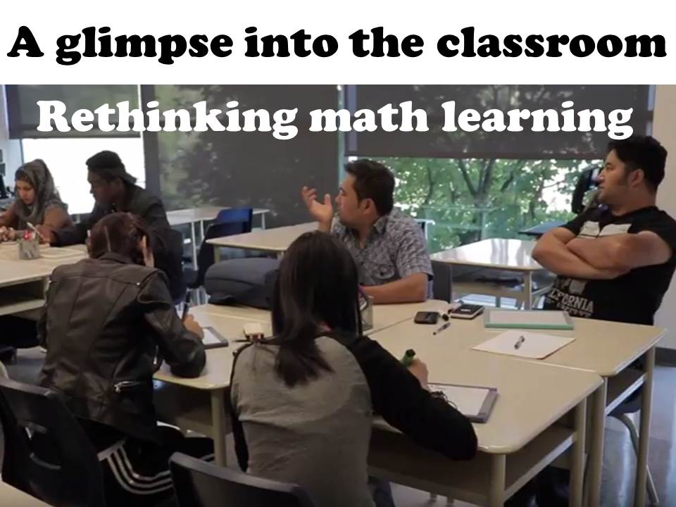 A Glimpse into the Classroom: Rethinking Math Learning