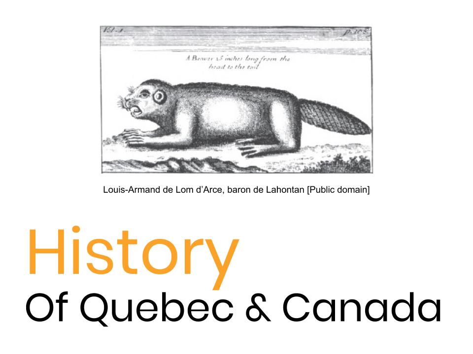 History of Quebec and Canada