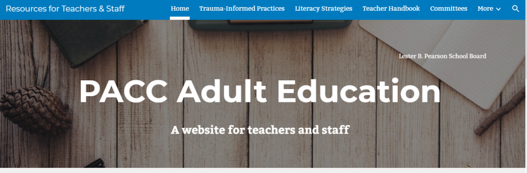 PACC adult education website
